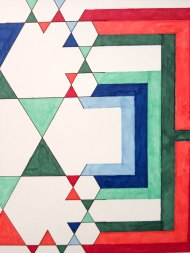 """John Adams. Koch's Snowflake Expanded Detail. March 2014. 26"""" x 40"""", Ink and Marker."""